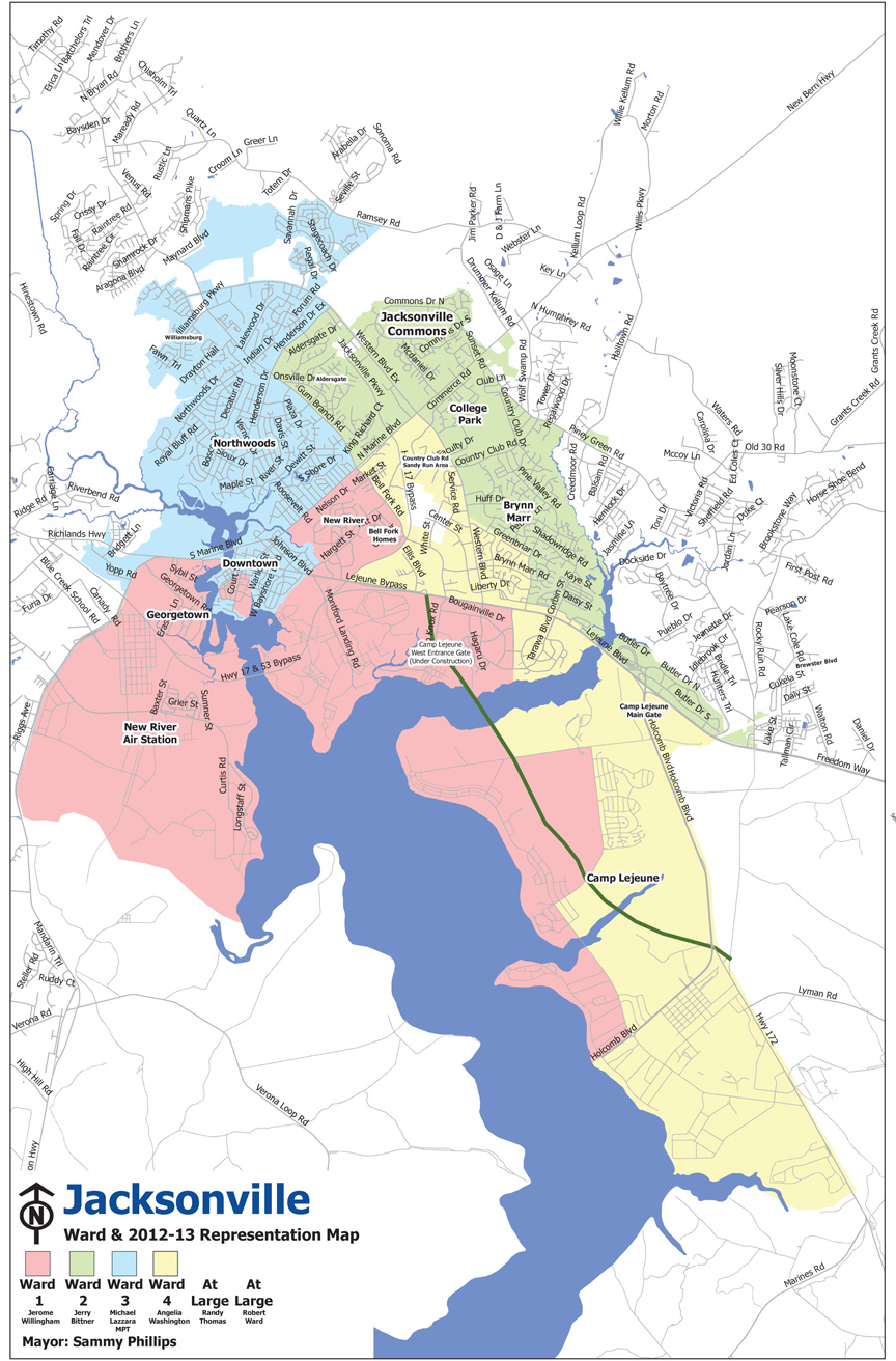 Ward Maps | Jacksonville, NC   Official Website