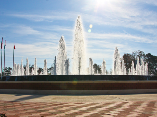 Freedom Fountain on sunny day