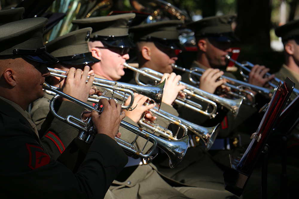 2015 Marines playing instruments