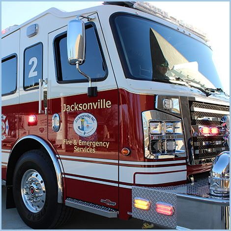 Close up of Jacksonville firetruck