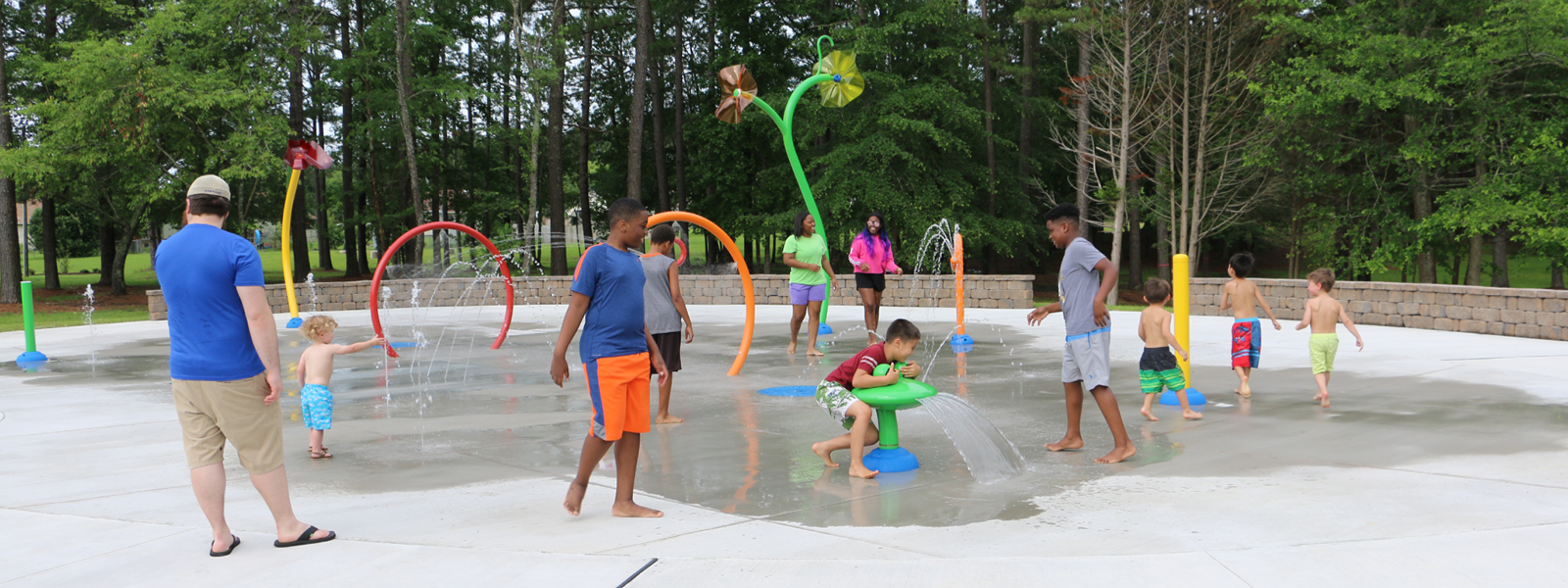The Northeast Creek Park splash pad is now open to the public