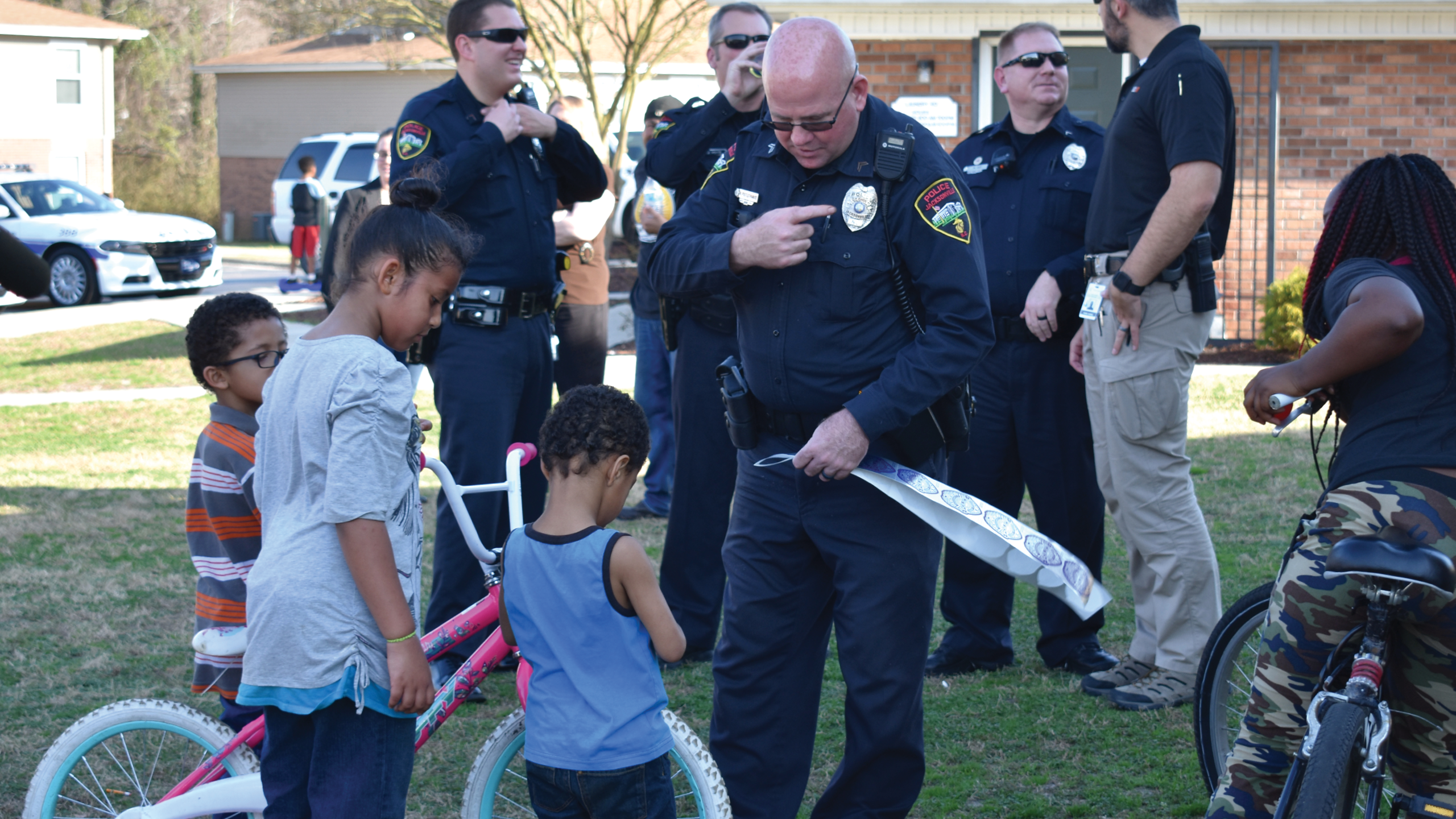 Community Officers Interact with Young Citizens