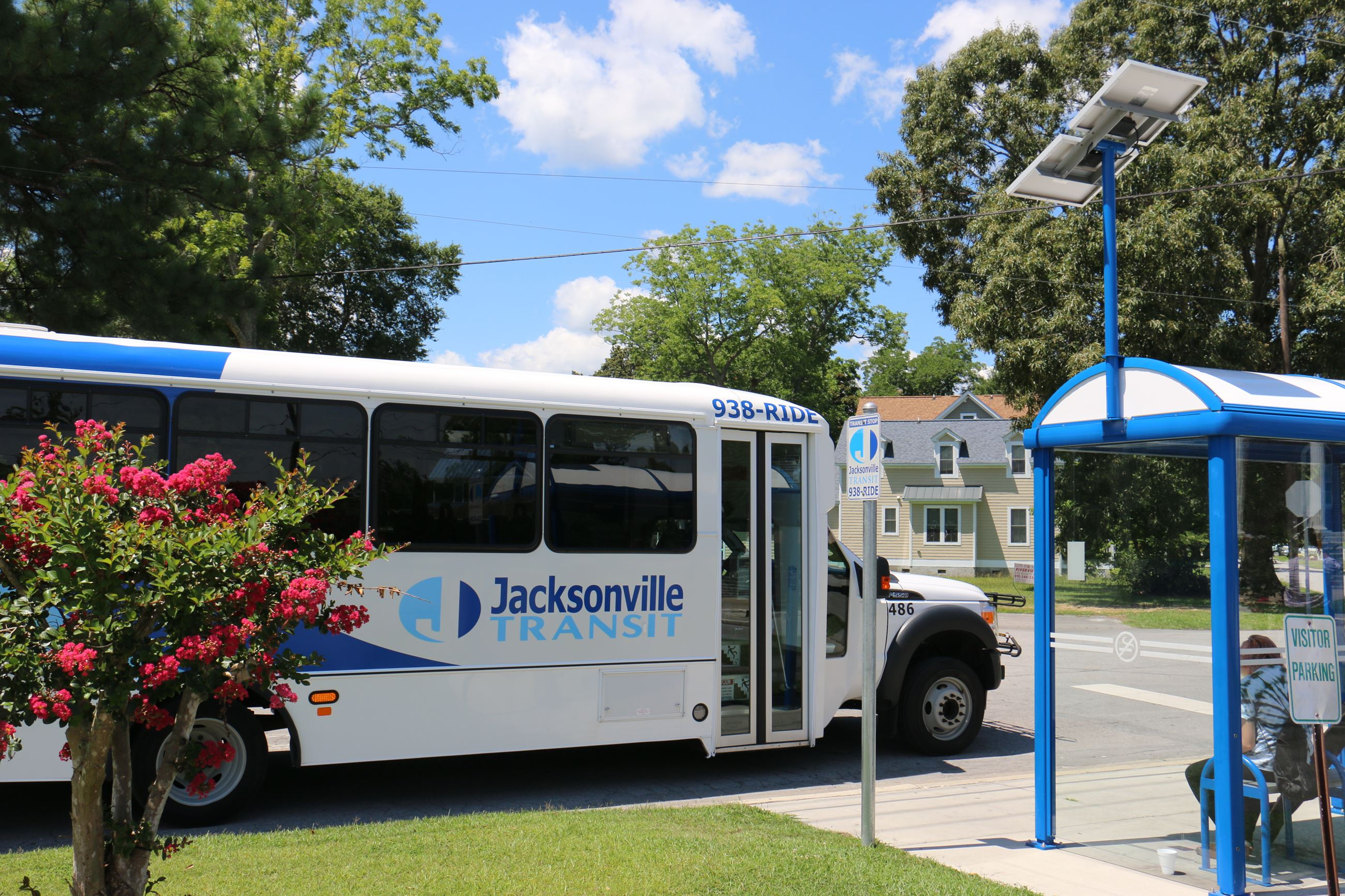 Jacksonville Transit at Bus Stop