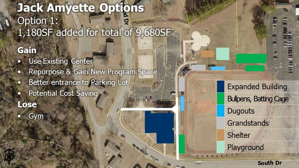 Jack Amyette Recreation Center Option 1