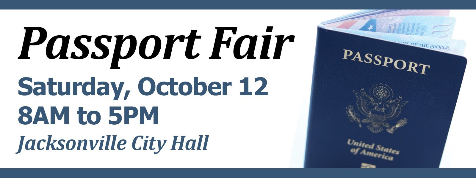 Passport Fair at City Hall, Saturday, October 12