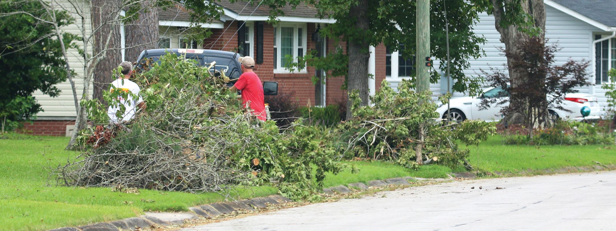 Don't burn yard waste. Crews are out collecting storm debris.