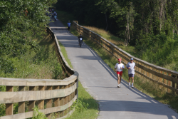Walkers and Bicyclists on Trail