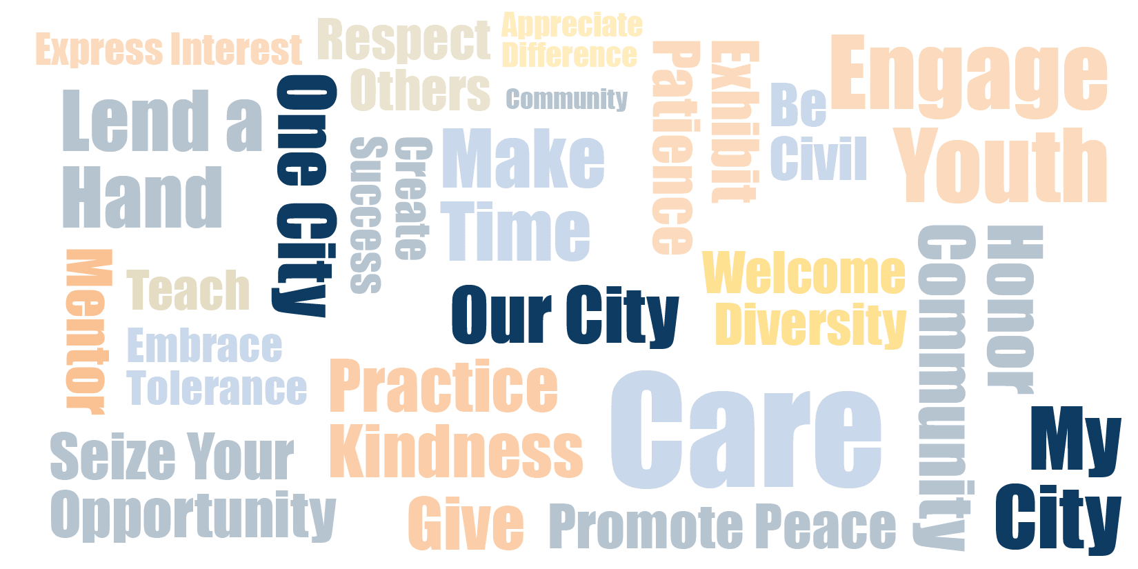 One City - Our City - My City - Word Collage