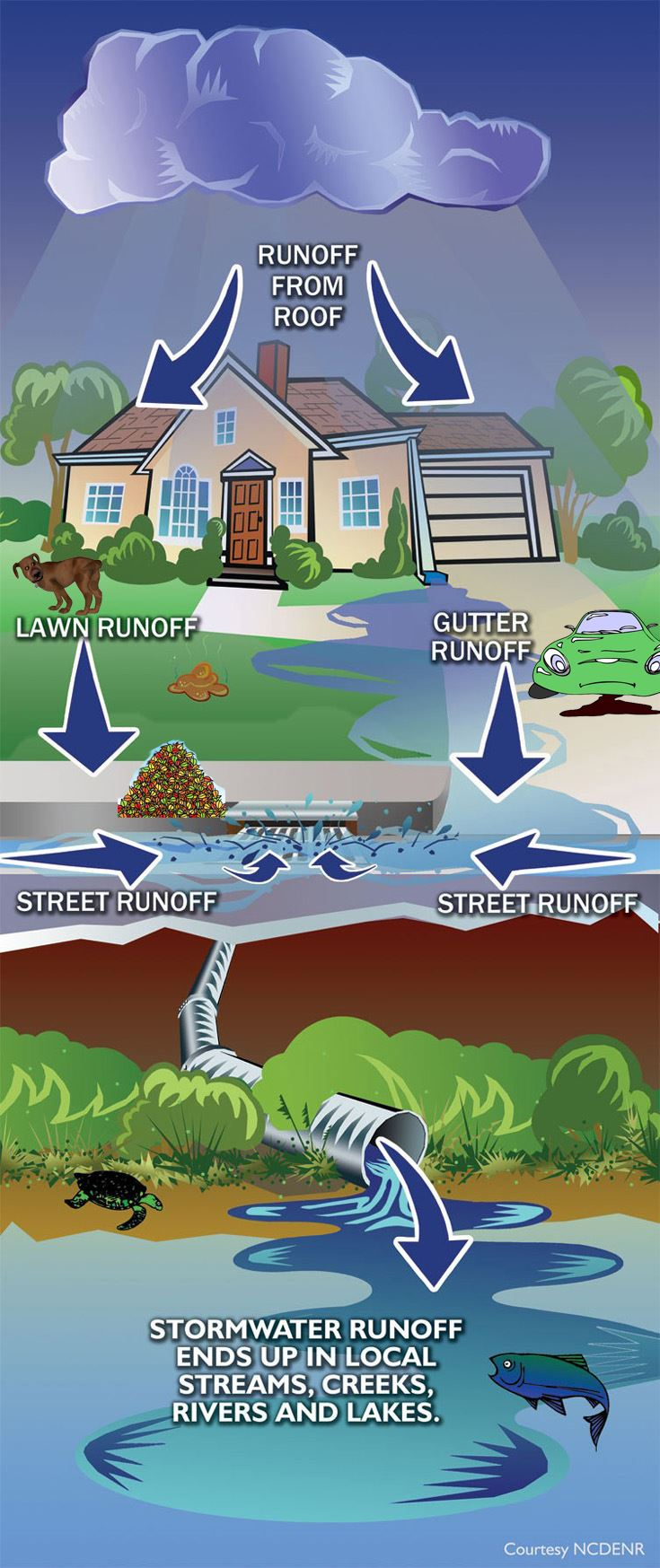 Where stormwater goes graph