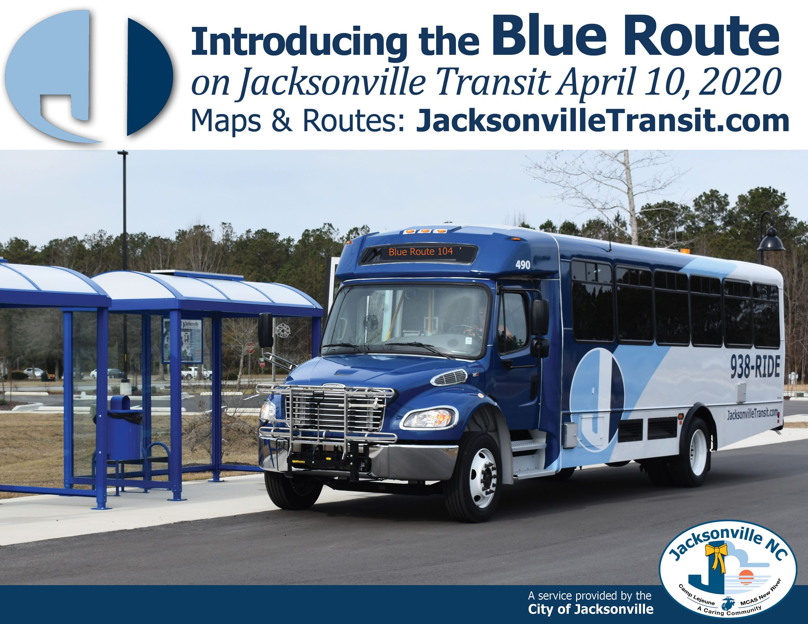2020-New City Route - Blue 104 introduced