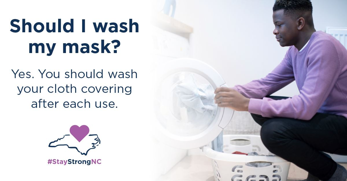 Wash masks after each use